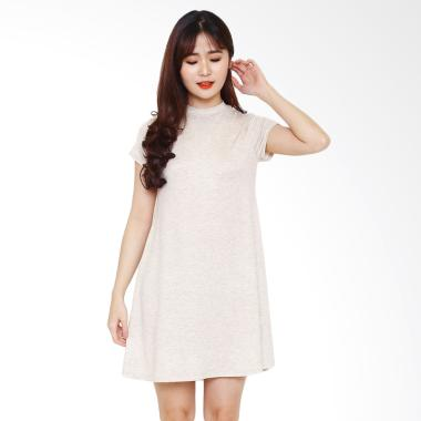 PURPLEJADE FVRD Mock Mini Dress Wanita - Creamy