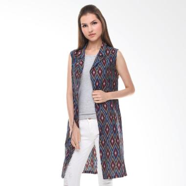 Anakara Drawstring Vest Red Eyes Outerwear Batik