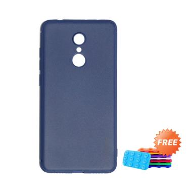 sports shoes c8c84 43b03 Lize Design Slim Case Xiaomi Redmi 5 Plus Softcase Xiaomi Redmi 5 Plus  Casing Xiaomi Redmi 5 Plus - Dark Blue + Free 1Pcs Tempelan Gurita Random