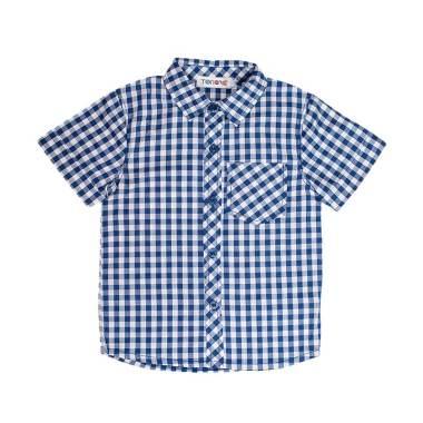 Torio 51-0161 Season 6 Checkered Front Button Kemeja Anak - Mint Blue