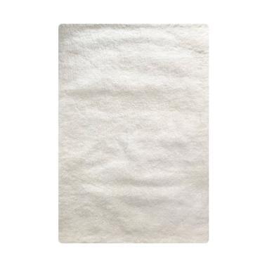 Vision CR 506 Soft Shaggy Polos Karpet - White [110 x 160 cm]