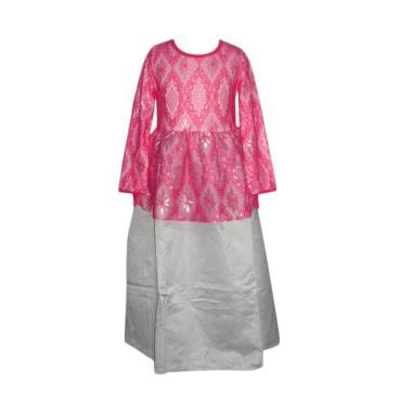 VERINA BABY Brukat Gamis L-nice Plu ... n Baju Muslim Anak - Pink