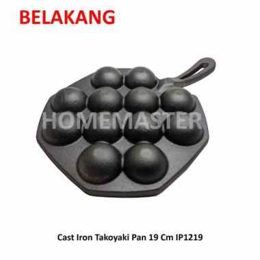 ⭐⭐⭐⭐⭐ HomeMaster Cast Iron Takoyaki Pan 19 Cm IP1219  panci set - panci presto
