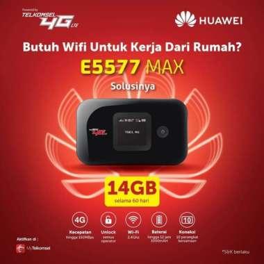 harga Huawei Modem Mifi E5577 Max + Telkomsel 14GB HITAM Blibli.com