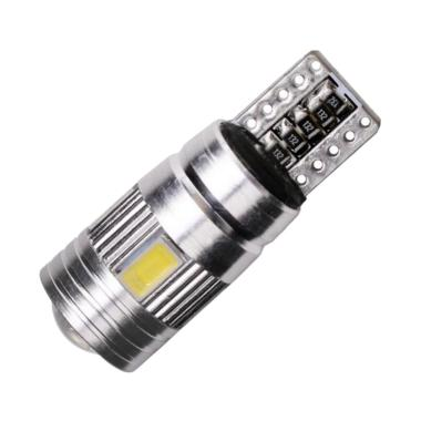 JMS T10 W5W Canbus 6 SMD 5630 Chip  ... ja Mobil atau Motor - Red