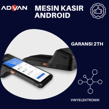 harga Advan Harvard 01 Smart Mobile Pos / Mesin Printer Android Kasir Advan Black Blibli.com