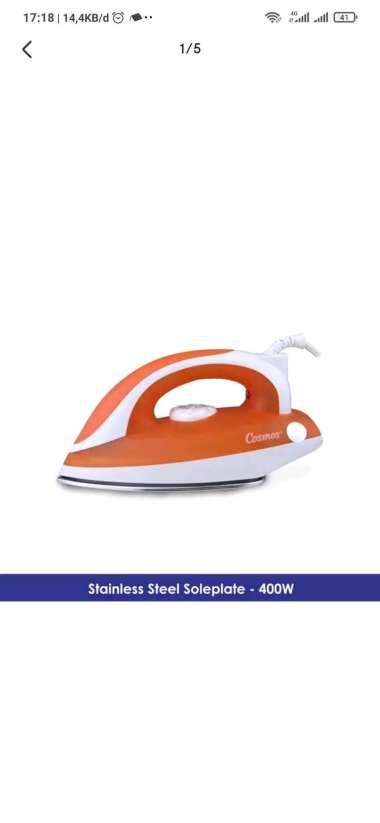 harga Terbaru Setrika COSMOS Stainless Steel Plate CIS 418 - Tapak Stainless-Gosokan Diskon Blibli.com