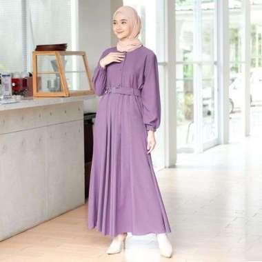 Gamis Remaja Terbaru /TRAND model Baju Gamis Remaja Kekinian 2021 / Gamis murah / Baju gamis terlaris L LAVENDER