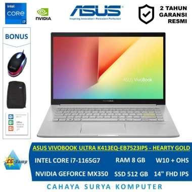 harga ASUS VIVOBOOK ULTRA K14 K413EQ-EB7523IPS - HEARTY GOLD |i7-1165G7 |RAM 8GB |SSD 512GB |GeForce MX350 |W10 |OHS Blibli.com