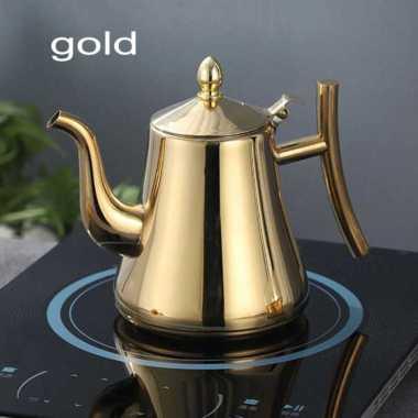 harga VRS Kashi Kettle Teko Air Teh Kopi Water Teapot 2.4L with Filter HS4015 Gold Blibli.com