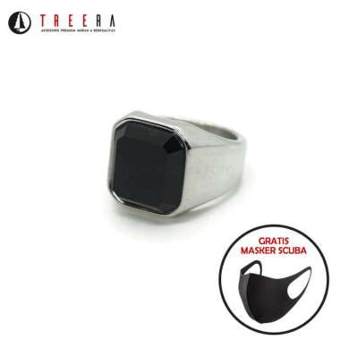 harga OHIO cincin titanium silver batu hitam keren original premium Silver Size 9 Blibli.com