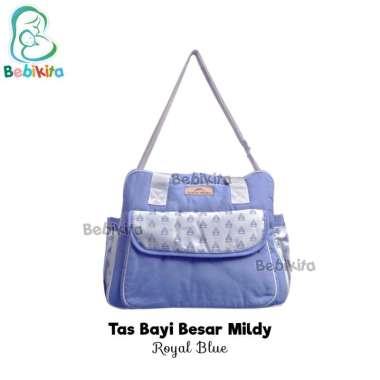 harga Mom's Baby Tas Bayi Besar Mildy Series MBT3037 Tas Perlengkapan Bayi Diaper Bag Royal Blue Blibli.com