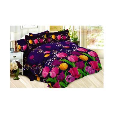 Bonita Romantic Tulip Set Sprei - Purple [180 x 200 cm]