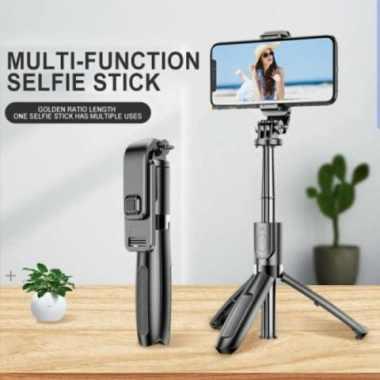 harga Jual Tongsis Selfie Stick L02 3in1 Tripod  Bluetooh Shutter Original Berkualitas Blibli.com