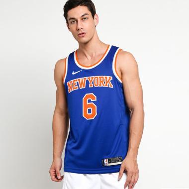 740bb05db NIKE Men Basketball New York Knicks Kristap Porzingis Swingman Road Jersey  Basket Pria  864495-495