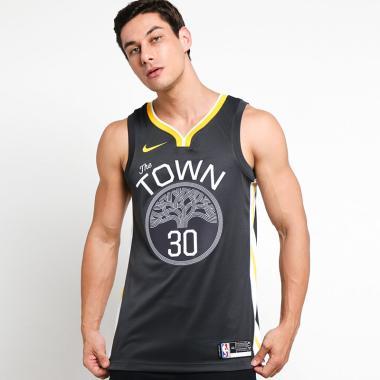 5d180512a NIKE Men Basketball Golden State Warriors Stephen Curry Swingman Alt1 Jersey  Basket Pria  877205-060