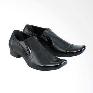 harga Golfer Formal Shoes Kulit Pantofel Sepatu Pria - Black [6287] Blibli.com