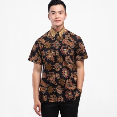 Adinata Batik Berwyn Zacky Hem Kemeja Batik Pria Lengan Pendek