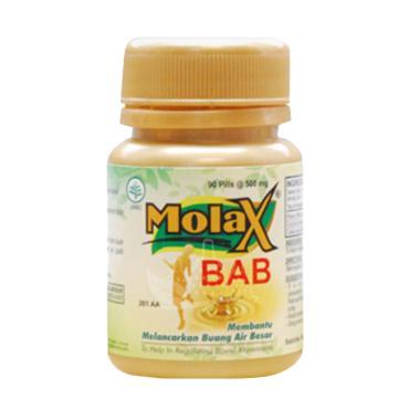 Borobudur Herbal Molax Obat Mencega ... carkan BAB Alami [90 Pil]