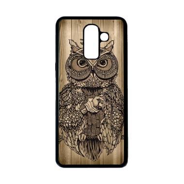 harga HEAVENCASE Motif Unik Burung Owl Wood Kayu Softcase Casing for Samsung Galaxy J8 - Hitam Blibli.com