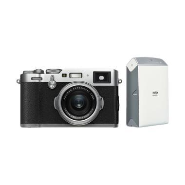 Fujifilm X100F Kamera Mirrorless - Silver + Instax Share SP2
