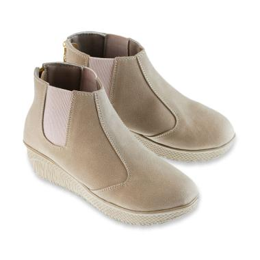 Golfer 3202 Sepatu Boots Wanita - Cream