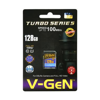 V-GEN SDXC Class 10 Turbo Memory Kamera [128GB/ 100MB/S]