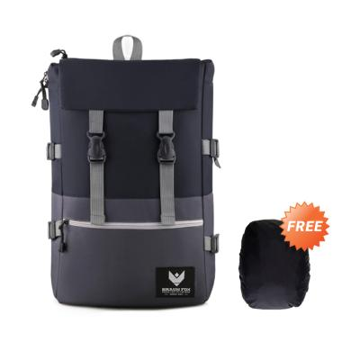 Braun Fox Archer Backpack Tas Ransel Pria + Free Raincover