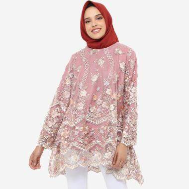 New Product Jfashion New Wide Long Tunik Print Beludru 3 4 Sleeve Arimbi . Source ·