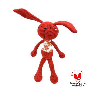 harga Dee Amigurumi Rabbit Long Boneka - Merah Blibli.com