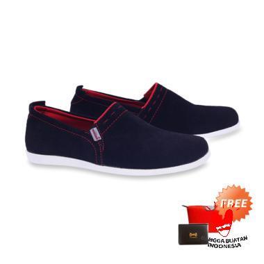 harga Garucci GCM 1279 Sepatu Casual Pria - Black + Free Bag Pouch or Dompet Kartu Blibli.com