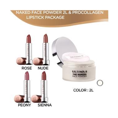 Ultima II The Nakeds Face Powder [2 ... en Lipstick Paket Make Up