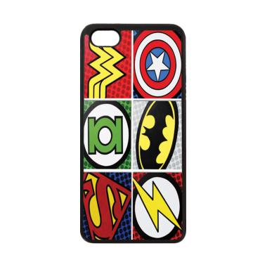 HEAVENCASE Motif Superhero Logo Softcase Casing for ViVO Y81 - Hitam