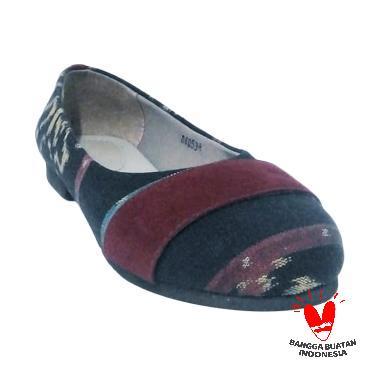 DAT Jolie Tenun Ikat Jepara Sepatu Wanita - Maroon 17bc5f36ca