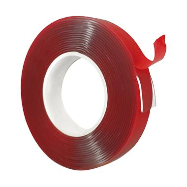 harga Solatape / Acrylic Foam Transparent Adhesive Decoration Auto Glue Car Sticker Double Side Tape - Red [8 mm x 4,5 m] Blibli.com