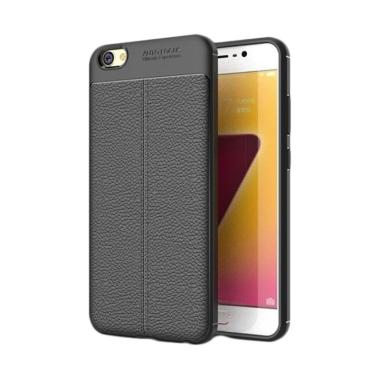 Case Auto Focus Leather Casing For Vivo Y71 Hitam
