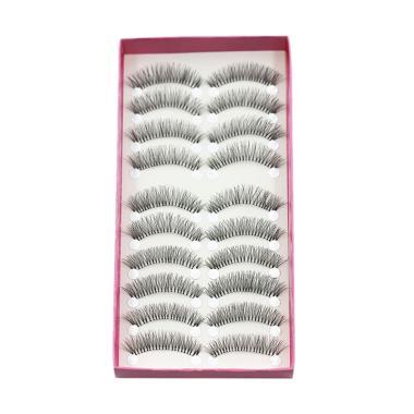 fa7cff00840 Bluelans Natural Thick Long False Eyelashes Fake Eye Lashes Voluminous  Makeup Set [10 Pairs]