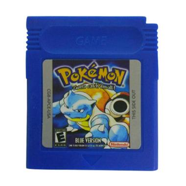 Bluealans Game Cards Cartridge for Nintendo Pokemon GBC Game Boy Color Version Console - Blue