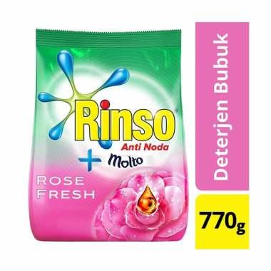 harga Bandung - RINSO Molto Pink Rose Fresh Deterjen Bubuk [770 g] Blibli.com