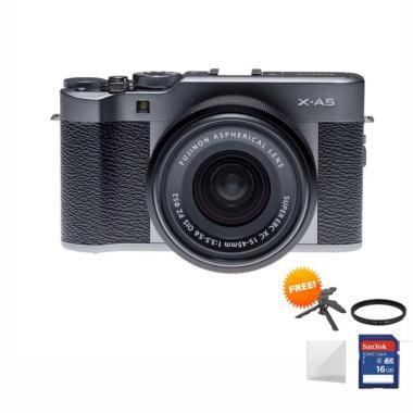 harga Fujifilm X-A5 Kit 15-45mm f/3.5-5.6 OIS PZ Kamera Mirrorless + Free Screenguard + SDHC 16GB + Mini Folding + UV Filter DARK SILVER Blibli.com