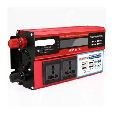 harga Fyu tech MH1500 Doxin Car Power Inverter [DC/ 12V to AC/ 220V/ 1500W/ 4 USB Port] Blibli.com