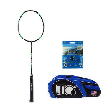 harga Hi-Qua Super Max Raket Badminton [Normal Weight/ All Around up to 32 lbs] + Free Tas + Senar + Grip Blibli.com