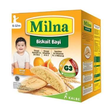 harga Makassar - Milna Biskuit Bayi Jeruk [6-12 Bulan / 130 g] Blibli.com