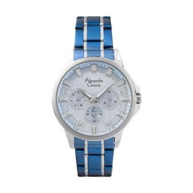 harga Alexandre Christie AC 2822 BF BTUBU Passion Ladies Light Blue Dial Dual Tone Stainless Steel Jam Tangan Wanita Blibli.com