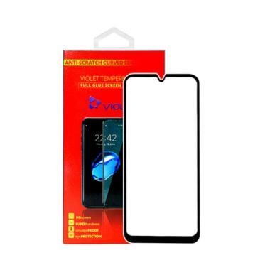 harga Violet 5D Glossy Full Glue Tempered Glass Screen Potector for Samsung A10S - Black Blibli.com
