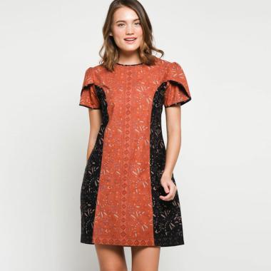 Andelly Batik 02 14 Dress Panjang Wanita - Orange