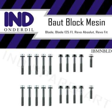 harga IND Onderdil Baut Block Blok Mesin Crankcase Kiri Kanan Revo Absolute-FI-Fit-X Blibli.com