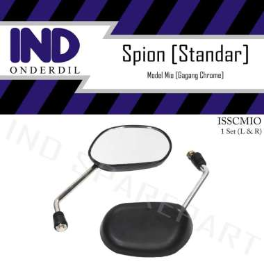 harga IND Onderdil Spion-Kaca Kiri-Kanan Standar Chrome Set Mio J-Soul GT-X-Ride-Fino-FI HItam Blibli.com