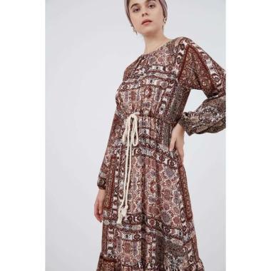 Berrybenka Hayin Printed Tier Dress