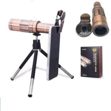 harga PICKOGEN Lensa Tele Zoom 20X Plus Clip Jepit & Mini Tripod MHS - Multicolor Blibli.com